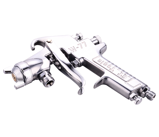 What is the principle of electrostatic spray gun?